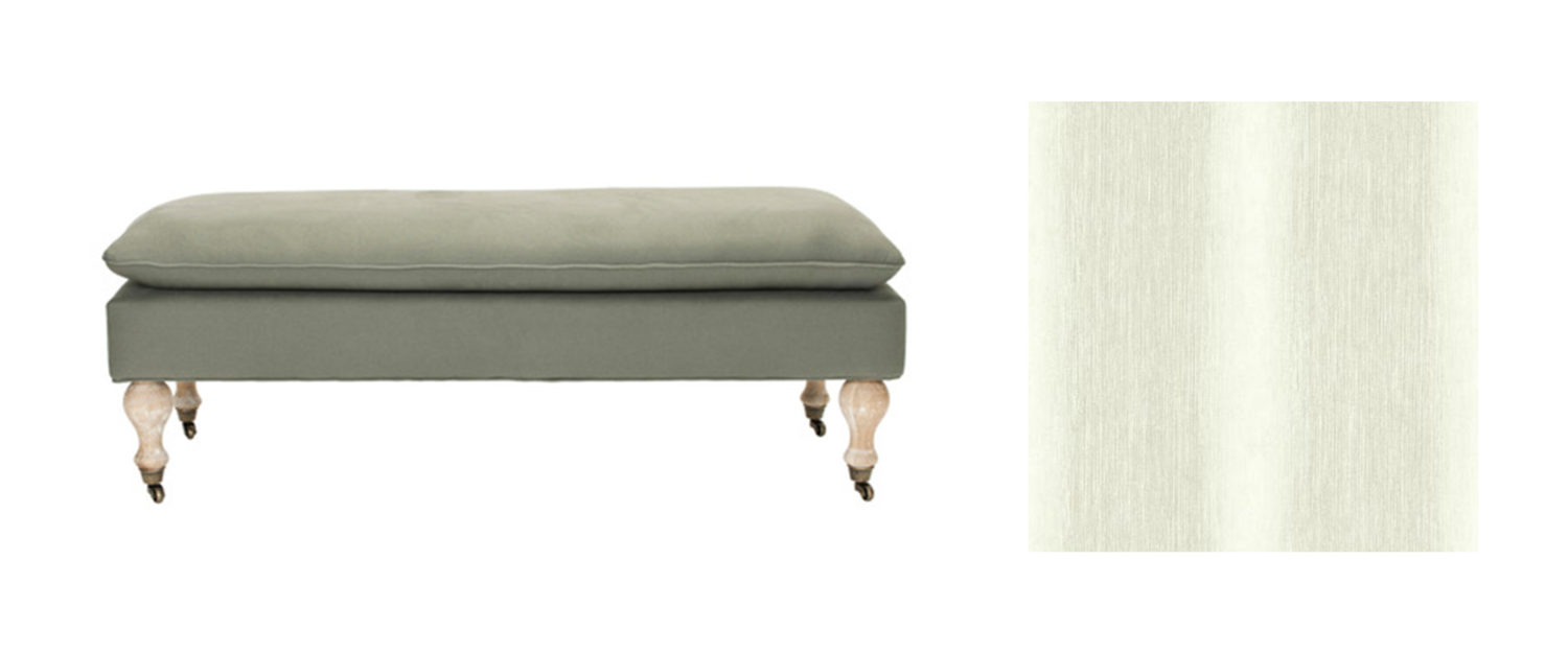 Jasmine Pillow Top Bench Stacy Garcia | New York for York Wallcovering; Whimsical Bloom Texture - ST6038